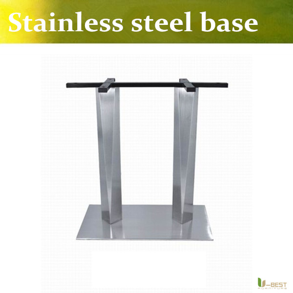 umejor acero inoxidable mesa de caf base doble columna tabla base pierna para