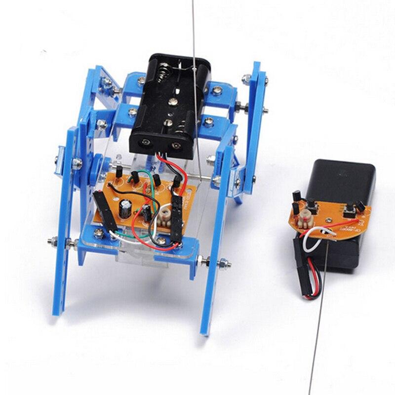 Robot intelligent Kit Télécommande 6-Legs Télécommande Robotique BRICOLAGE Kits Speed Encoder Battery Box pour Arduino Kit Robotica