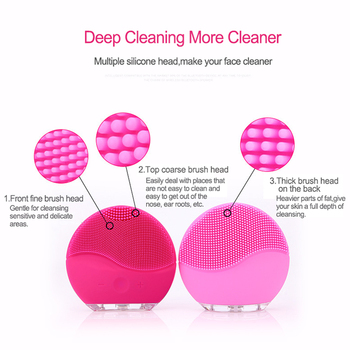 Mini Electric Facial Cleansing Brush Silicone Sonic Vibration Cleaner Deep Pore Cleaning Skin Massage face brush cleansing 1