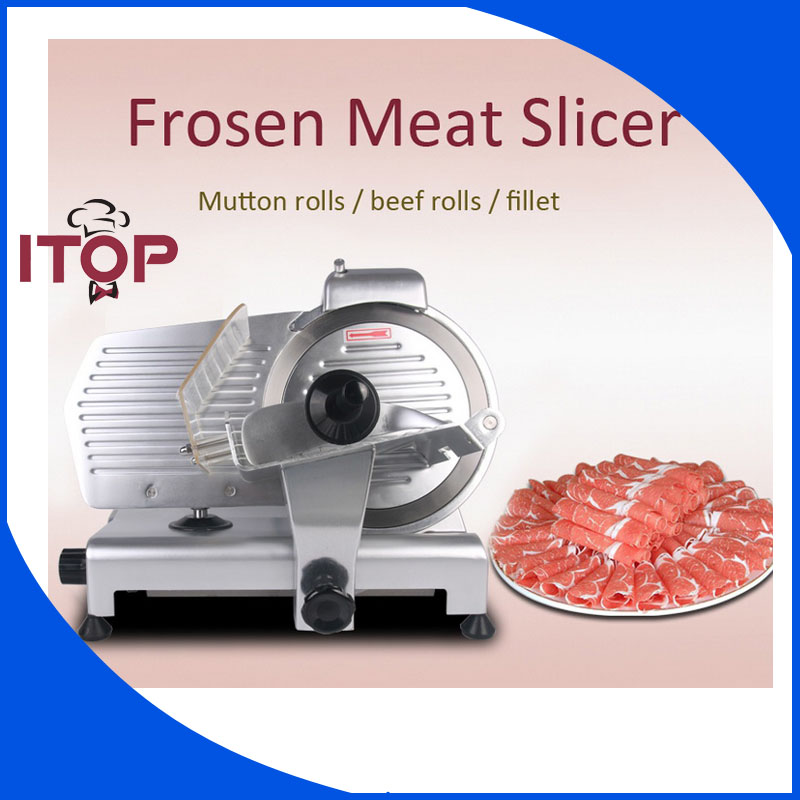 ITOP 10 Blade Premium Meat Slicer Electric Deli Cutter Home Kitchen HEAVY DUTY Commercial Semi-Automatic Meat Cutting Machine lucog home cutting machine meat grinders kitchen mincing mincer with stainless blade manual cutter hand slicer for vegetable