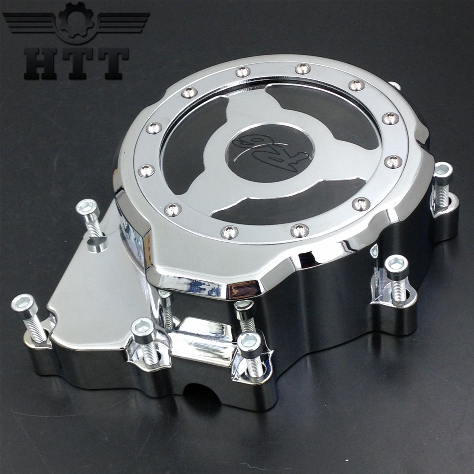 Aftermarket free shipping motorcycle parts Billet Engine Stator cover see through Yama YZF-R6 2006-2013 CHROME left side for motorcycle suzuki gsxr 600 750 2006 2013 engine stator cover see through chrome left side