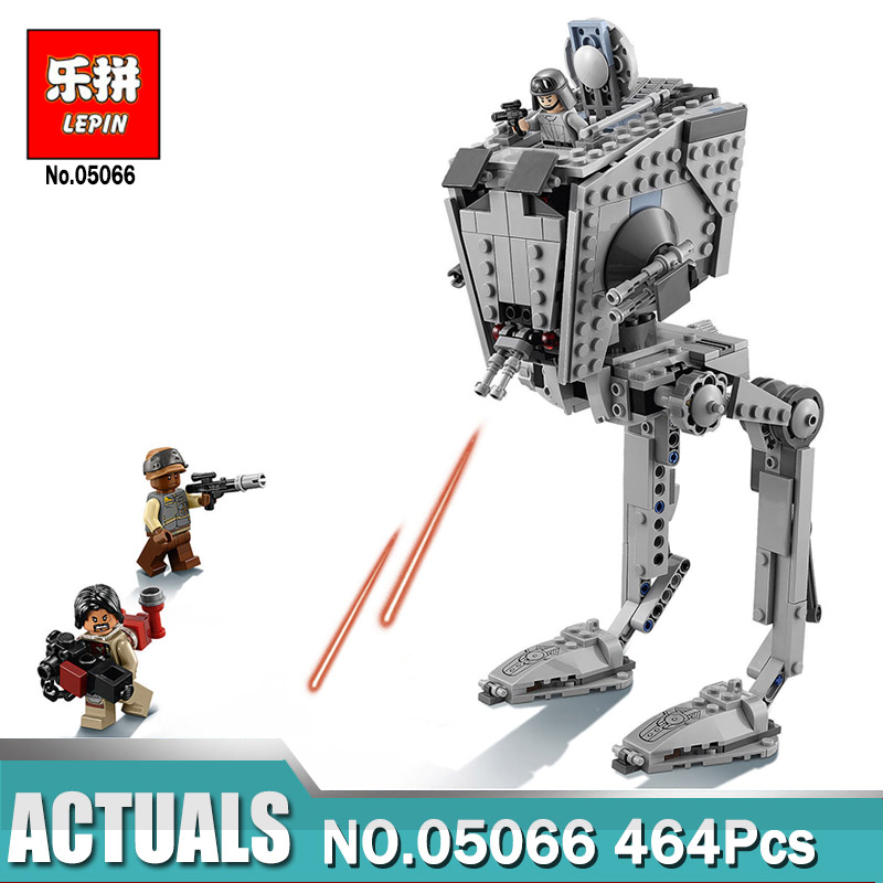 Lepin 05066 Imperial AT-ST Walker Bricks Set Compatible Legoing Star  Wars 75153 Building Blocks Toys For Children Funny Gift lepin 22001 imperial flagship building bricks blocks toys for children boys game model car gift compatible with bela decool10210