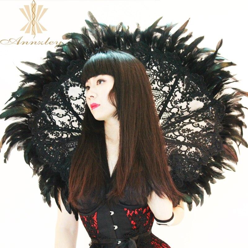 2018 Handmade Beading Gothic Victorian Feathers Cosplay Burlesque Halloween Costumes