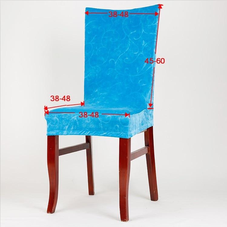 En cuir pu couverture de chaise Élastique stoelhoezen eetkamer ...