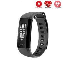 Смарт-браслет монитор сердечного ритма часы крови Давление крови кислородом Смарт Спорт Браслет фитнес часы PK mi Группа 2 Android