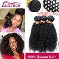 Brasileiro Kinky Curly Virgem Cabelo Top Quality Afro Kinky Curly Do Cabelo Humano Barato 3 Pçs/lote Pacotes Tecer Cabelo Brasileiro