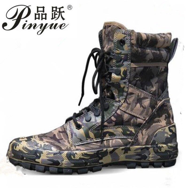 Hommes en plein air bottes de Camouflage chaussures d'entraînement Combat désert bottes tactiques chaussures de Camouflage randonnée Camping chaussures chaussures d'escalade