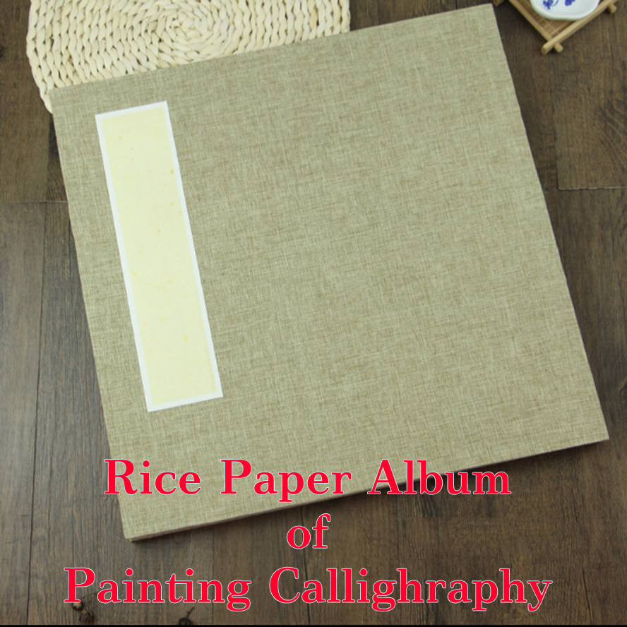 Archaistic Rice Paper Chinese Album of Painting Calligraphy fiberflax Page Book Blinding Notebook Painting Canvas