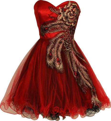 Red Holiday Prom Dress