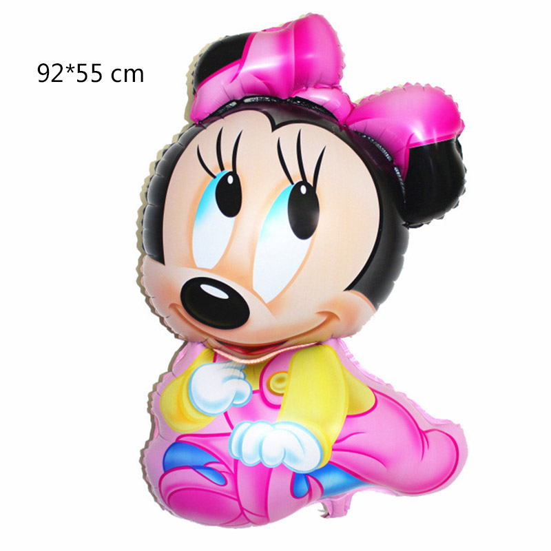 1 Pcs Cartoon Big Mickey Mouse Minnie Foil Balloons Kids Birthday Party Decoration Baby Boy Girl Mickey Party Balloon 84 x 50CM in Ballons Accessories from Home Garden