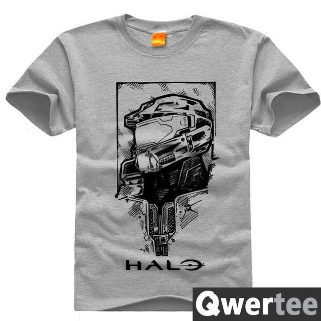 Original Design Halo Master Chief Helmet Print Fashion Style Casual T Shirt Free