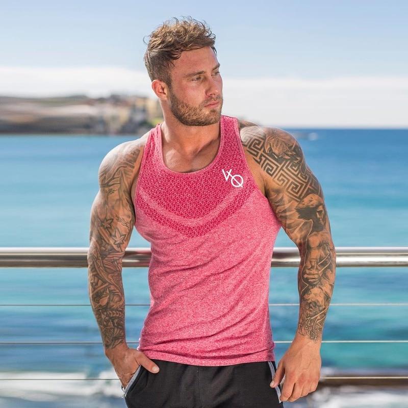 Men Sleeveless Muscle Bodybuilding   Tank     Top   Gym Singlet Fitness Sport Slim Cotton   Tank   Gym Shirt Men Singlet