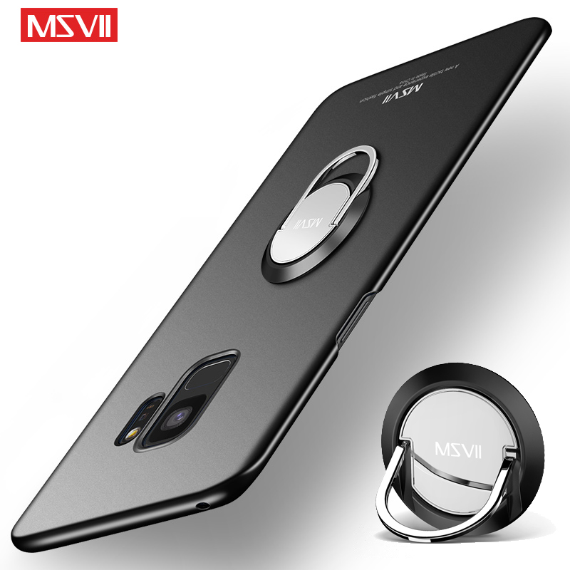 buy online e034d 45937 US $3.74 25% OFF|Aliexpress.com : Buy For Samsung Galaxy S9 Plus Case Cover  Msvii Finger Ring Slim Coque For Samsung S9 Plus Case Holder Cover For ...