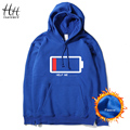 HanHent High Quality Casual Unisex Men's Hooded Black Navy Red Grey Fleece Hoodies and Sweatshirts long Sleeves Coats AG0012