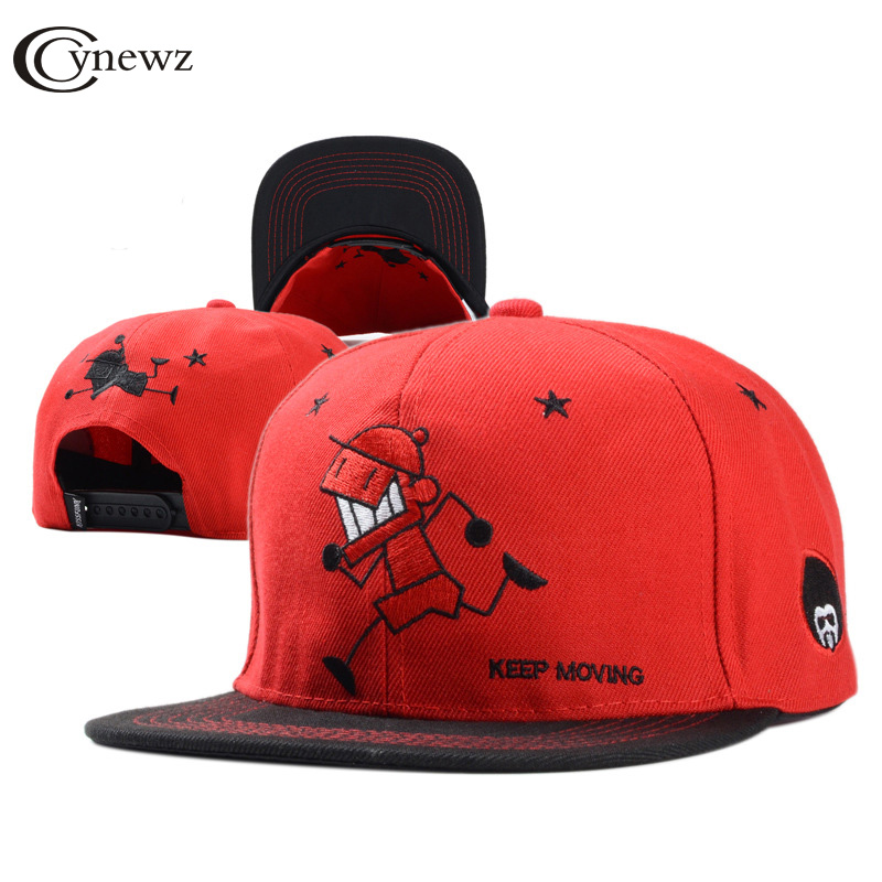 Personality Snapback Caps Baseball Hats Embroidered Cotton Hip Hop Cap 2017 New Fashion Hat Cool Sun Snapback Cap Men Women Hat new cotton hat ice cream embroidered baseball cap for men and women sun hat snapback caps cotton canvas