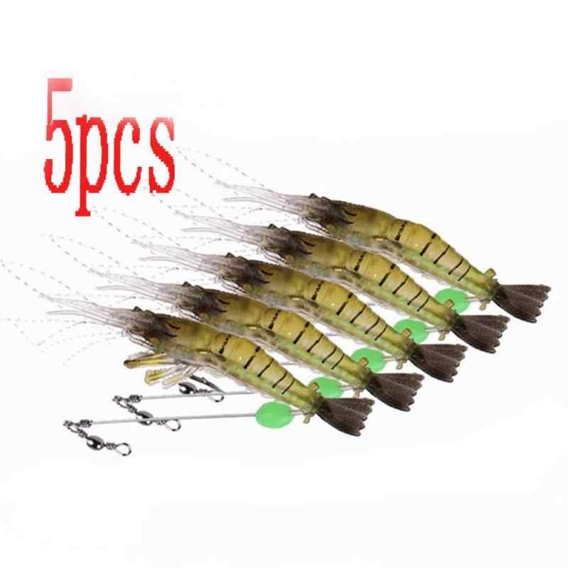 10 см, 6 г, 5 шт., светящиеся приманки, искусственные мягкие креветки, приманки/крючки, мягкие приманки, мягкие рыболовные приманки, запах, рыболовные приманки