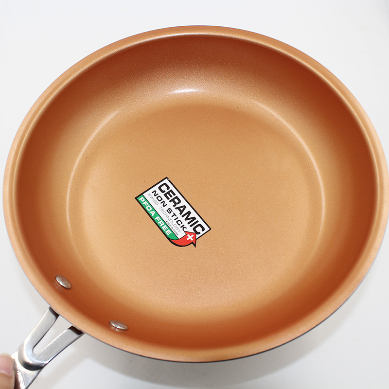 Non-stick Copper Frying Pan with and Gas cooker, Oven & Dishwasher safe 10 & 8 Inches