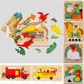 Весело дети/дети образовательные деревянные игрушки многослойные мультфильм животного 3D головоломки подарок для ребенка