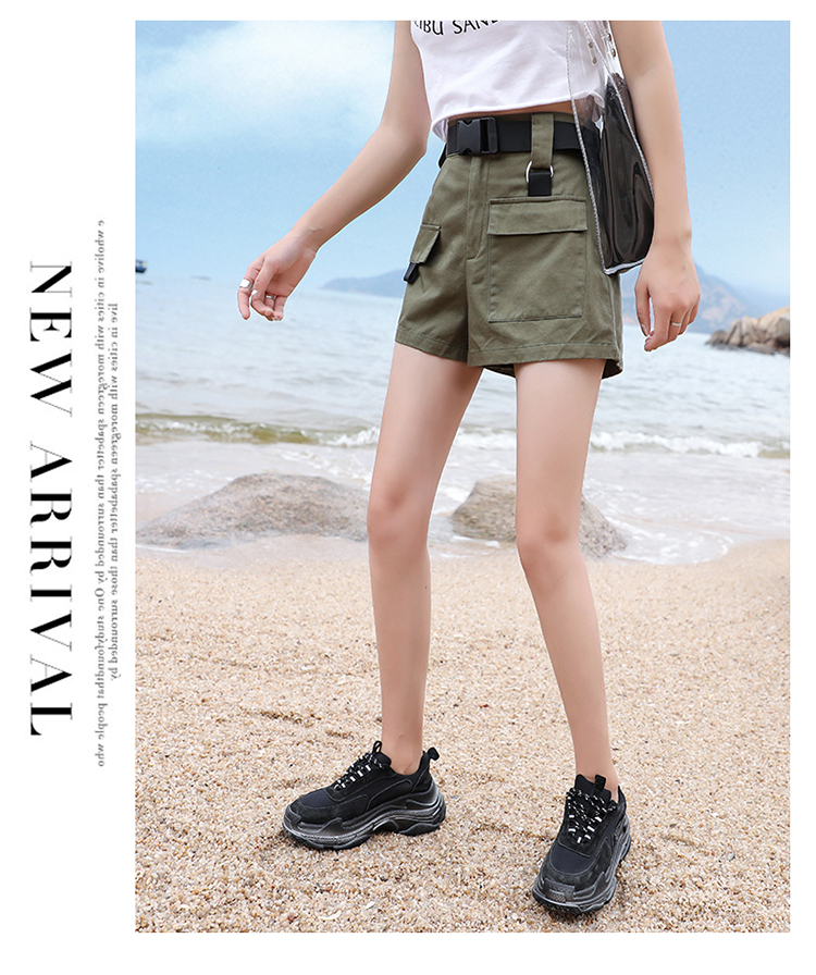 3XL Plus Size Women Summer Shorts With Belt 2019 Fashion Casual Streetwear Cargo Shorts Feminino BF Style Army Green Short Femme 29