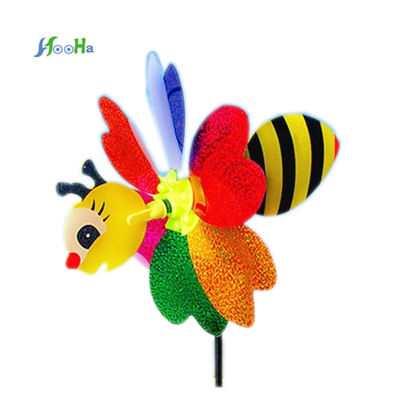 Plastic Windmill Small Animal Stereo Six Leaf Pattern Wind Spinner Windmills Garden Lawn Party Decor Hot Toy Lovely For Children