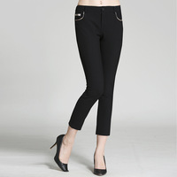 2018 Spring Summer Autumn High Waist Stretch Tight Casual Pants Thin Section Feet Pants