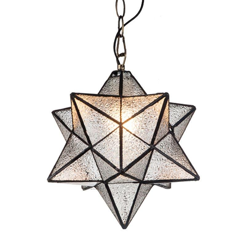 US $107.85 |Tiffany Glas Stern Anhänger Lampe Kinderzimmer Anhänger Lichter  Restaurant Bar Anhänger Lampe Balkon Anhänger Lampe-in Pendelleuchten aus  ...