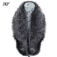 100% женские из натуральной черно бурой лисицы меховой воротник лисий мех зажим для шарфа шаль натуральный Лисий мех шарф