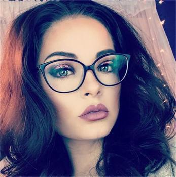 2018 Spectacle frame cat eye Glasses frame clear lens Women 1