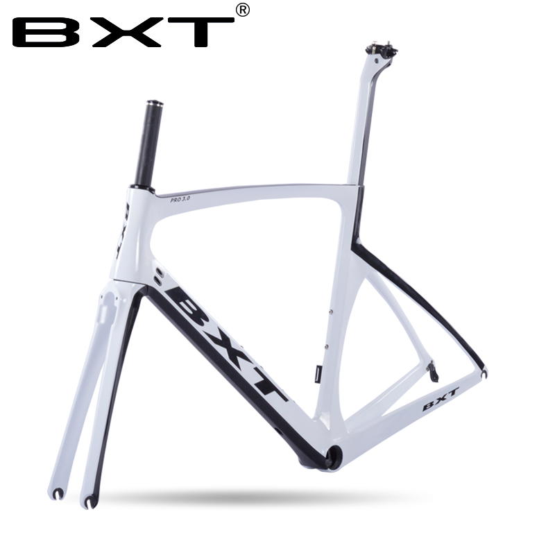 цена на 2018 New Design BXT Carbon Road Bike Frame+Fork+Seatpost Toray T800 Chinese Bike Frame 49-56CM UD Carbon bicycle Frames