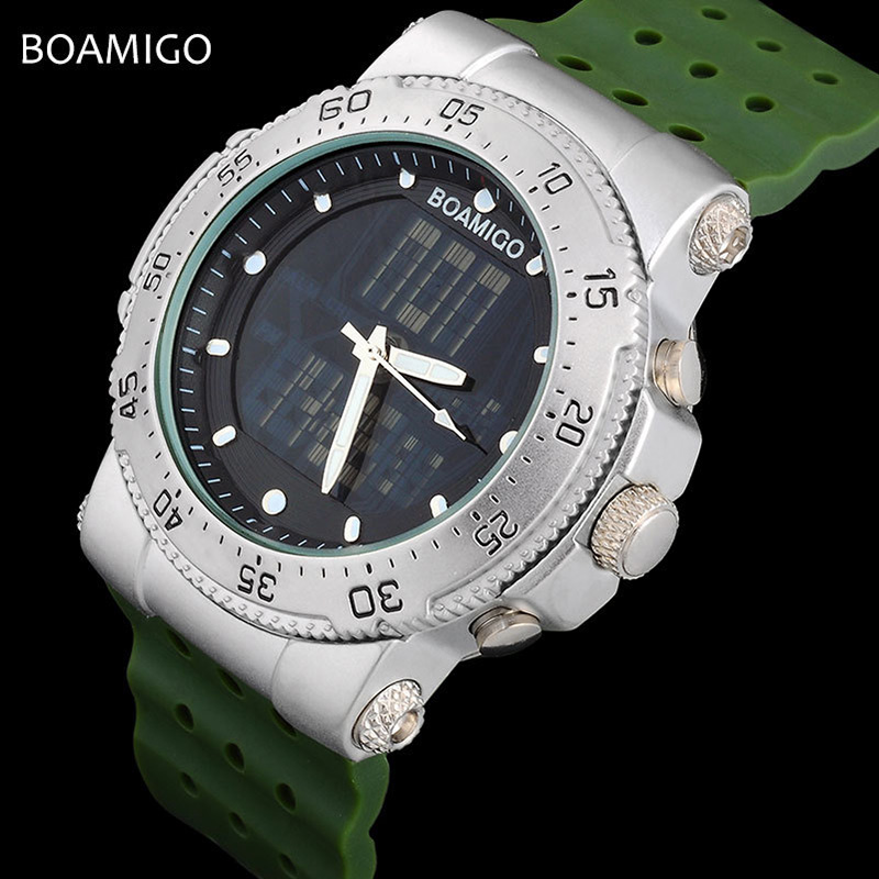 Mens Watches Top Brand Luxury Sport Quartz Military Dual Display Watch Fashion Waterproof Watch Anniversary Gifts For Husband