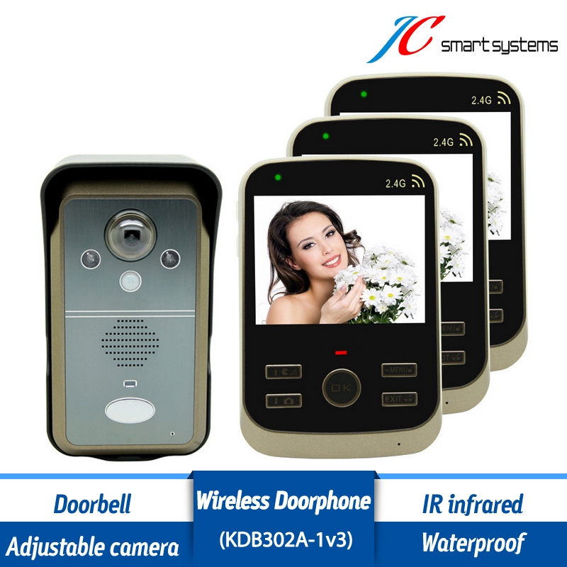 Multi Functional Video Phone Wireless Doorbell With Camera Intelligent 24h Surveillance  System For Front Door Security