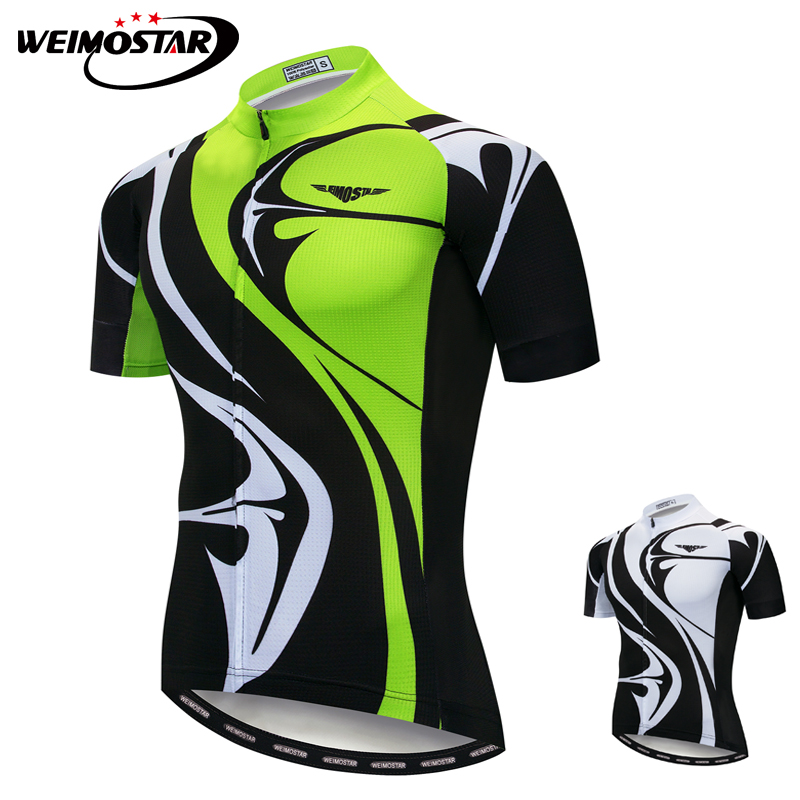 8d619f0d4 Weimostar Cycling Jersey White Green Outdoor Sport Cycling Bicycle Clothing