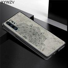 Huawei P30 Pro Antichoc TPU Souple En Silicone de Texture de Tissu Dur PC Téléphone étui pour Huawei P30 Pro Couverture Arrière Huawei P30 Pro Fundas