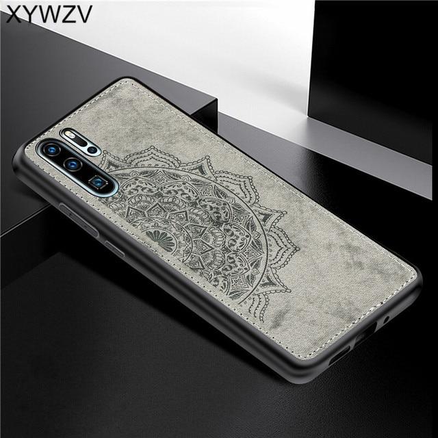 Huawei P30 Pro a prueba de golpes suave TPU paño de silicona textura dura PC funda de teléfono para Huawei P30 Pro contraportada Huawei p30 Pro Fundas