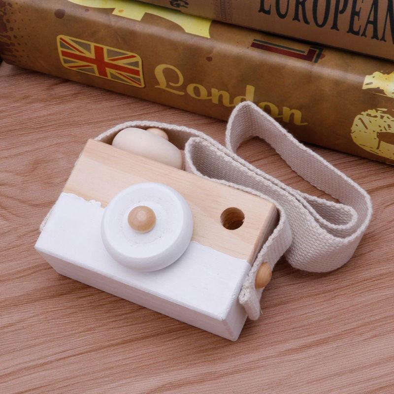 Деревянная камера игрушка Детские Путешествия домашний декор подарки для детей - Цвет: white