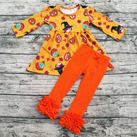 Atacado boutique remake das crianças Dia das Bruxas roupas conjuntos de roupas infantis dois outfits peça
