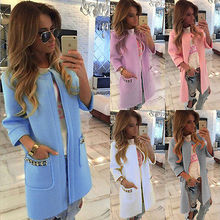 Women Ladies Knitted Sweater Long Sleeve Tops Cardigan Outwear Coat Jacket Candy