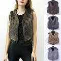 Plus Size M-3XL 2016 New Winter Faux Fox Fur Vest Fashion Women Sleeveless Fox Fur Outwear Waistcoat Short Gilet Jackets Tops