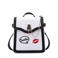 2018 new beautiful women Ladies handbag fashion crocodile pattern purse women bag black bag