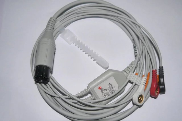 For Mindray Goldway Spacelabs WELCH ALLYN HP Nihon Kohden GE Nellcor ZOLL Colin BCI CSI 6pin ECG Cable 3 Lead One Piece IEC AHA 5