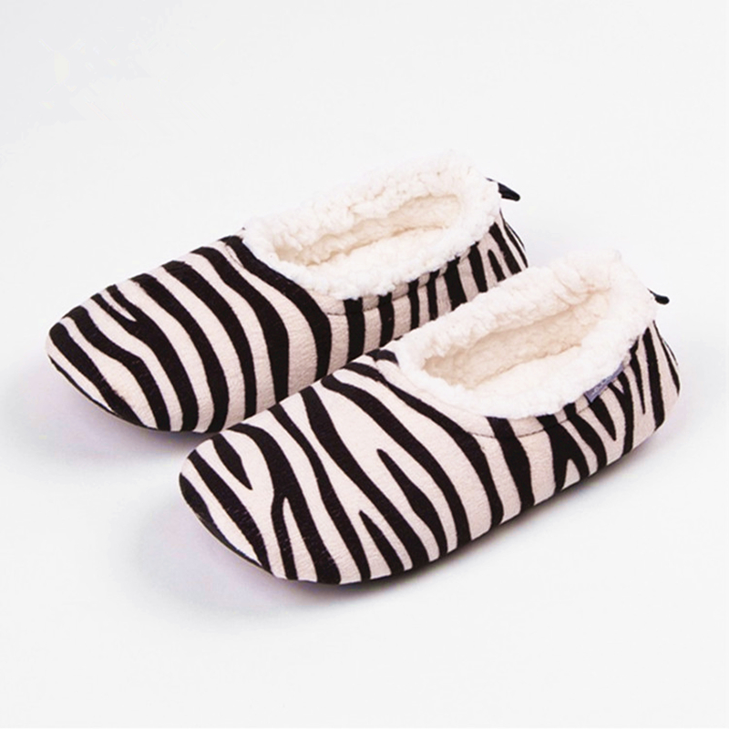 2017 Latest Style Slippers Women Zebra Stripes Creative Home Shoes Womens Cotton Indoor Floor Soft Plush Antiskid Slippers HW02 autumn travel aviation hotel home shoes cotton padded folding slippers women men indoor floor slippers free shipping