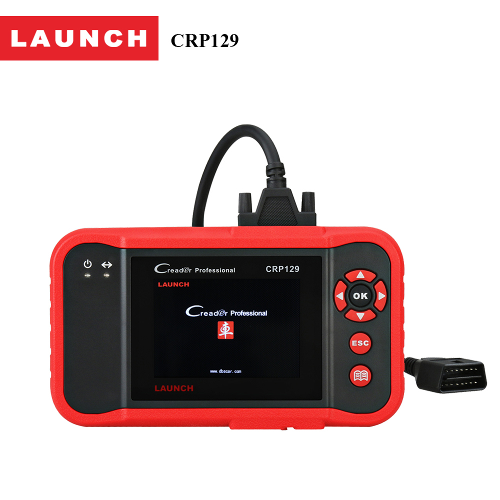 Launch X431 Creader CRP129 OBD2 Car Scanner OBDII Diagnostic Tool Auto Code Reader Engine ABS SRS Brake Oil Reset Diagnostics obd2 scanner launch creader 8001 car code reader full obdii eobd auto diagnostic scanner tool with abs srs epb oil service