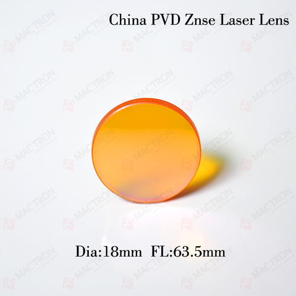 Chinese ZnSe Co2 Laser Lens 18mm Dia, 63.5mm Focus Length For Laser Cutting Machine cvd znse co2 laser focus lens with diameter 18mm focus length 38 1mm thickness 2mm