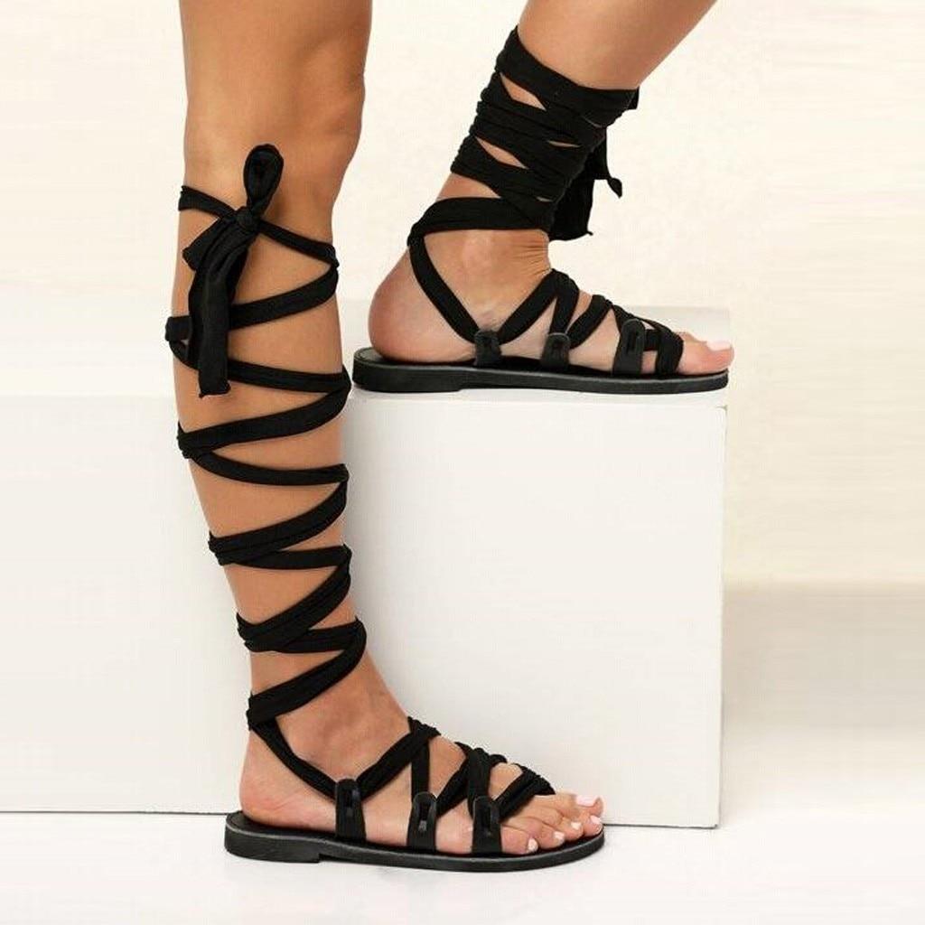 Sandálias Gladiador Das Mulheres de Salto Alto Verão das mulheres Planas Sandálias Sapatos Mulher Sandalias Femme Chaussures De Verano Mujer Pará