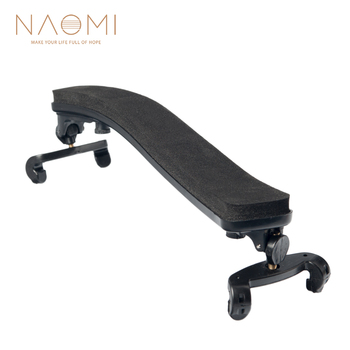 NAOMI Adjustable Violin Shoulder Rest For 1/4 1/2 Fiddle Violin Plastic Padded 1/4 1/2  Violin Parts & Accessories New