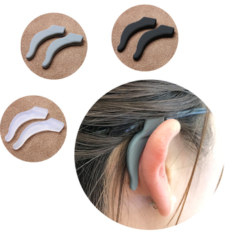 COLOUR-MAX High Quality  Silicone Anti Slip Ear Hooks Holder Glasses Eyeglass Sunglasses - discount item  19% OFF Eyewear & Accessories