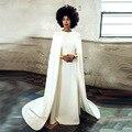 Vestido de Noiva branco árabe Vestido de casamento com casaco vestidos de Noiva Custom Made