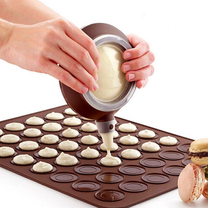 2Pcs/set Silicone Mold Macaron Kit Baking Mold Silicone Baking Mat 48 Cavity Macaron Mat & Dessert Decorative Nozzle Tool XNC