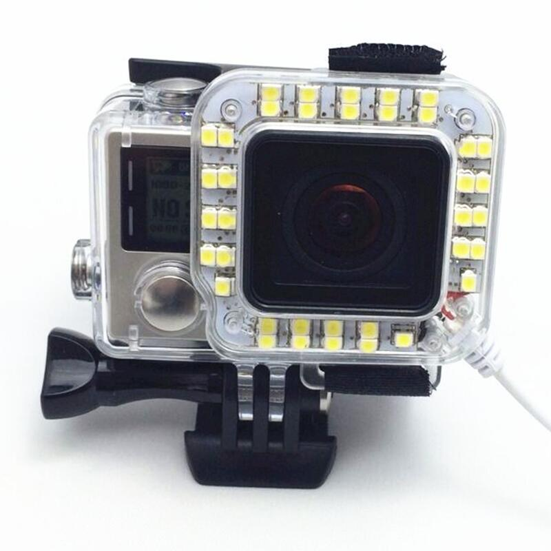Ms.L.Meilyadigital para accesorios gopro NightShot light night shoot fill light para gopro hero3 + / 3plus hero4 go pro 4 hero 4