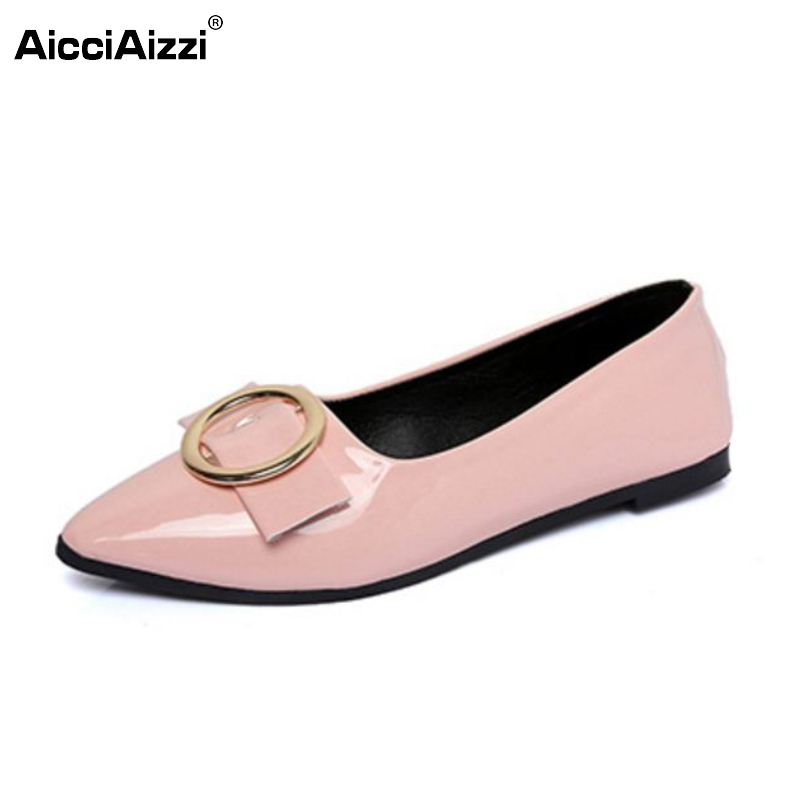 Spring Autumn Fashion Women Shoes Pointed Toe Slip-On Flat Shoes Woman Single Casual Flats Zapatos Mujer Size 35-39 купить